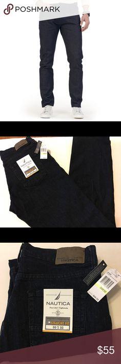 🎉HP🎉Men's Nautical Dark Denim Jeans Size 30x32 Men's Nautical Dark Denim Jeans Size 30x32 Brand new with tags. Nautica Jeans Straight