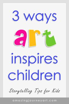 All art tells a story. Creative Writing Prompts, Employee Gifts, Gifts For Nature Lovers, Kids Learning Activities, Kids Writing, Art Techniques, Fun Things, Art Lessons, Amazing Art