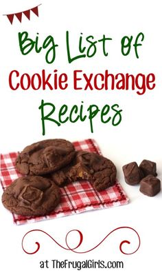 BIG List of Cookie Exchange Recipes! ~ perfect for our Christmas Cookie Exchange Party! Cookie Exchange Party, Christmas Cookie Exchange, Christmas Sweets, Easy Cookie Recipe For Cookie Exchange, Christmas Parties, Christmas Time, Delicious Cookie Recipes, Yummy Cookies, Dessert Recipes