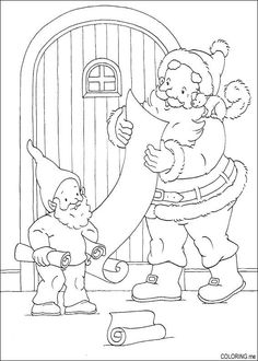 Santa Is Reading Letters From Kids Coloring Page Claus Category Select 28148 Printable Crafts Of Cartoons Nature Animals Bible And Many