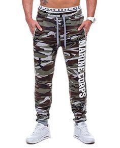 HOT RED 2212 Verde XXL  6F6  Hombre Bolsillos Gym Pantalones Diseño de  Camuflaje BOLF f41001a229f