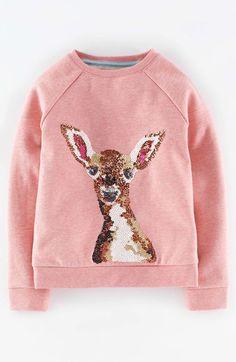 Mini Boden Woodland Animal Print Sweatshirt (Toddler Girls, Little Girls & Big Girls) available at #Nordstrom