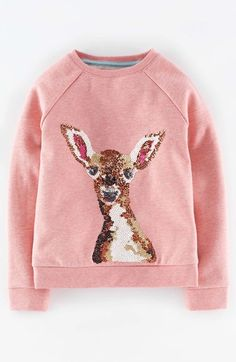 Mini Boden Woodland Animal Print Sweatshirt (Toddler Girls, Little Girls & Big Girls) available at #Nordstrom