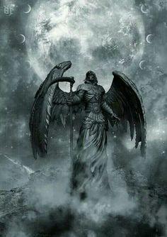 The reaper is an angel. Ange Demon, Demon Art, Dark Fantasy Art, Dark Art, Grim Reaper Art, Reaper Tattoo, Arte Obscura, Angels And Demons, Angel Art