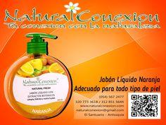 ¡JABÓN VIVIFICANTE! Natural Conexión te trae el aroma tonificante y fresco de los cítricos en su JABÓN LIQUIDO NARANJA. Los aceites esenciales de la naranja, la lima y el limón estimulan la circulación sanguínea y reaniman los sentidos. Adquiere nuestros productos en puntos de venta autorizados en Medellín, Cucuta y el Oriente Antioqueño. http://www.naturalconexion.com/puntos-de-venta.html