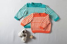 Striped Pullover - Knitting Patterns and Crochet Patterns from KnitPicks.com by Kerin Dimeler- Laurence