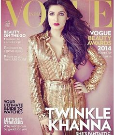 Twinkle Khanna #stylish, smart & sassy as #voguecovergirl in Emilio Pucci VOGUE India Akshay Kumar in August 2014 edition!!