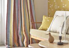 Scandanavian woven fabric UK   Striped upholstery fabric - Vanessa Arbuthnott
