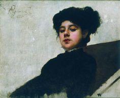Portrait of unknown woman, 1883 Ivan Kramskoy