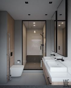 Here are list of the awesome minimalist apartment designs ever presented on sweet house. Find inspiration for Minimalist Apartment Design to add to your own home. Best Bathroom Designs, Simple Bathroom, Modern Bathroom Design, Bathroom Interior Design, Modern Interior, Modern Design, Small Bathroom Vanities, Big Bathrooms, Amazing Bathrooms