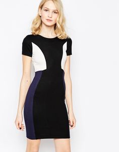 French+Connection+Colourblock+Manhattan+Pencil+Dress