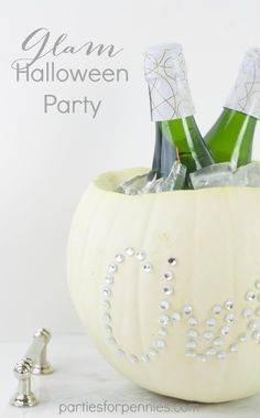 Halloween Party | PartiesforPennies.com | #halloween #party #glam