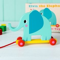Ben and Lola - ElvisThe Elephant Pull along Toy, £12.00 (http://www.benandlola.com/elvisthe-elephant-pull-along-toy/)