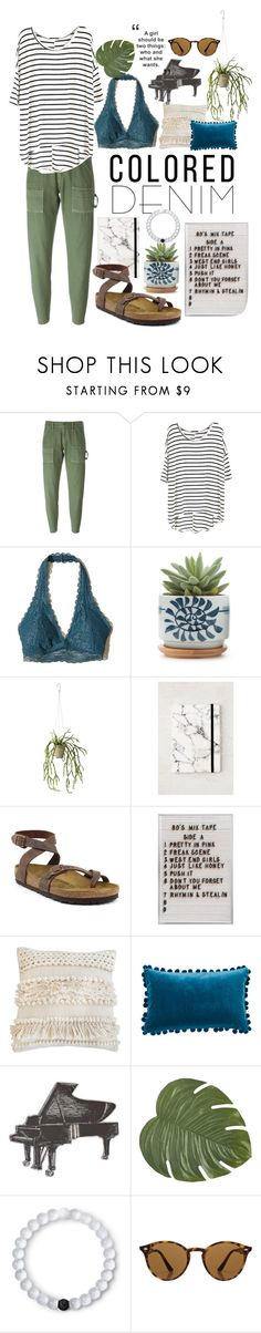 """Fresh cut grass"" by averytheleapinglizard ❤ liked on Polyvore featuring Citizens of Humanity, Hollister Co., Holly's House, Urban Outfitters, Birkenstock, Pom Pom at Home, Ballard Designs, Pier 1 Imports, Lokai and Ray-Ban"