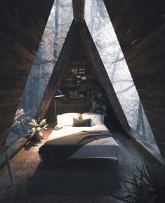 Beautiful Home Interior .Beautiful Home Interior Forest Cabin, Forest House, A Frame Cabin, A Frame House, Cabin In The Woods, House Ideas, Tiny House Design, Interior And Exterior, Exterior Design