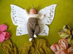 Baby Pictures - butterfly baby by MyLittleCornerOfTheWorld Cute Baby Pictures, Newborn Pictures, Cute Babies, Baby Kids, Monthly Baby Photos, Photo Souvenir, Foto Baby, Butterfly Baby, Butterfly Dress