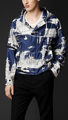 Burberry Prorsum London Landmarks Silk Wool Jacket