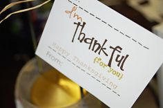Toad's Treasures: Thanksgiving Tags