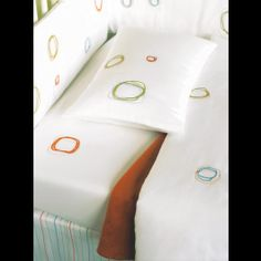 Area Baby White Mini Organic Crib Bedding at DesignPublic.com