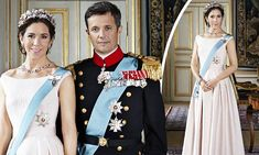 Crown Princess Mary of Denmark is the picture of elegance in newly released photos of the Danish royal couple.