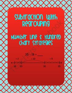 Subtraction with Regrouping Using a Number Line and Hundreds Chart - Common Core from Christi'sCreativeTeachingTools on TeachersNotebook.com -  (18 pages)  - This is a great unit to help your students with subtraction with regrouping without using the algorithm.