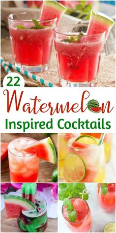 Watermelon cocktail recipes to enjoy summer. Check out these watermelon inspired… Watermelon cocktail recipes to enjoy summer. Check out these watermelon inspired cocktail recipes for your next BBQ, pool party or summer party. Beste Cocktails, Fun Cocktails, Cocktail Drinks, Cocktail Recipes, Party Drinks, Mint Mojito, Watermelon Mint, Pineapple Juice, Watermelon Vodka Recipes