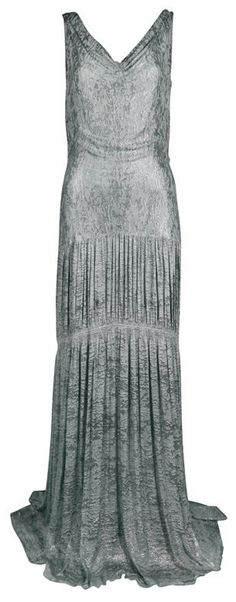 1930's Metallic Silk Silver Lamé Pleated Gown http://fashion.1stdibs.com/avl_item_detail.php?id=48691