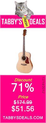 Kalos DG200 41-Inch Acoustic Dreadnought Guitar with Gig Bag $51.56
