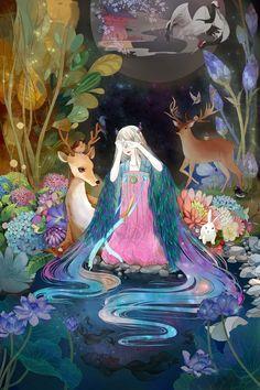 辛德瑞拉kiss 的插画 森林の女大拼图