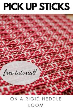 Learn how to use pick up sticks with your rigid heddle loom and move beyond plain weave. Includes free video tutorial!  #pickupsticks #rigidheddleweaving #rigidheddleloom #kellycasanovaweavinglessons Pick Up Sticks, Being Used, Loom, Weave, Etsy Shop, Texture, Pattern, Projects, How To Make