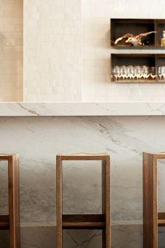 Bar counter detail.