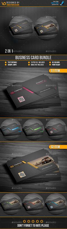 #Business #Card Bundle - Business Cards Print #Templates Download here: https://graphicriver.net/item/business-card-bundle/19217340?ref=alena994