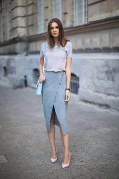 style inspiration - the tonal split pencil and tee - so simple, sleek, and comfortable - love it!!!