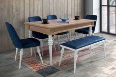 Evmo Riga Salon Masa Sandalye Takımı Meşe Aytaşı