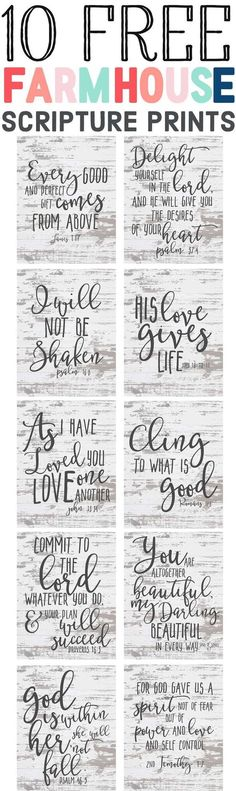 Free Farmhouse Scripture Printables-Upliflting bible and scripture printables-affordable farmhouse decor ideas- www. Farmhouse Decor, Farmhouse Style, Cottage Farmhouse, Farmhouse Signs, Farmhouse Ideas, Farmhouse Font, Farmhouse Lighting, Country Decor, Country Style