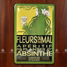 Tin Sign Wall Decor Retro Metal Art Poster Absinthe Green Fairy Advertising 12.99 ebay