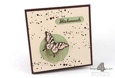 Stampin' Up! Papillon Potpourri Karte Schmetterlinge