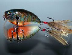 Crank Bait Custom Painted BASS SNAX Rattlin' Wake Bait Pernicious Pumpkinseed