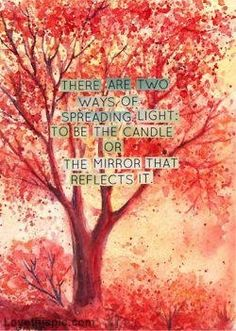 There are two ways of spreading light.. quote life lifequote kindness inspiration helpful