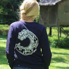 Surfer Wave Shirt Surf Shirt Ocean Wave by ChesapeakeIsland