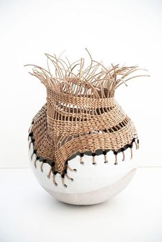 Inspiring Me? - ceramic vase by Tracy Wilkinson -What's Inspiring Me? - ceramic vase by Tracy Wilkinson - Ceramic Clay, Ceramic Vase, Ceramic Pottery, Pottery Art, Pottery Kiln, Thrown Pottery, China Porcelain, Paperclay, Kintsugi
