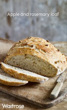 Our sweet apple and rosemary loaf uses delicious seasonal cox apples and rosemary from the garden. Butter a couple of slices and serve alongside your favourite soup for a wonderful warming lunch.