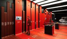 Designer Fabio Novembre re-interprets the team's colours for the new facilities, which also feature interactive exhibits created in collaboration with Google.