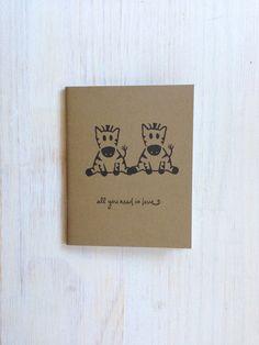 Medium Notebook: Cute, Zebra, Zebras, Love, Wedding, Valentine's Day, Romantic, Journal, Kids, For Her, For Him, Unique, Gift, Notebook