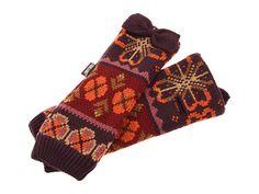 MUK LUKS Flower Fairisle Fingerless Gloves