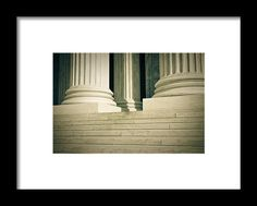 Stone Framed Print featuring the photograph Pillars Of Law And Justice Us…
