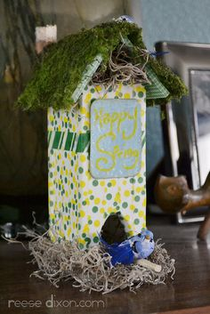 Spring Birdhouse Craft Tutorial by reesedixon, via Flickr