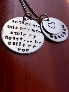 Hand Stamped Metal This Boy Who Stole My by MonAmiCreationz, $15.00