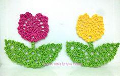 Tecendo Artes em Crochet: Tulipinhas Delicadas