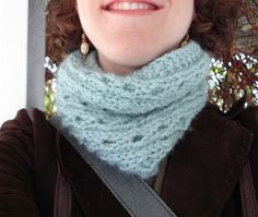 Quickie Cowl = my new favorite knitting pattern.  I am working on my second cowl in a moss colored Misty Alpaca yarn.